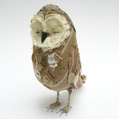 Ponsenby Owl made out of fabric scraps by textile artist Abigail Brown. http://abigailbrown.bigcartel.com/product/ponsonby-owl-brown