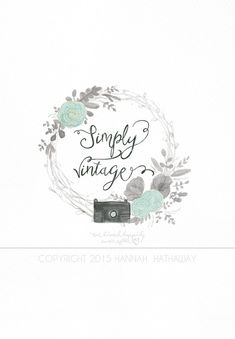 Brand Set  Photography Logo  Logo Package  Flower Logo