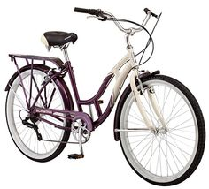 ab8fcb0dd6e Check Schwinn Women's Sanctuary Cruiser Bicycle Wheels), Cream/Purple, from  Best Rated 10 Women Comfort Bikes in 26 inch of