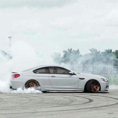BMW F13 M6 white drift Bmw M Series, Bmw M6, Bmw Love, Car Wheels, Bmw Cars, Beast Mode, Cars And Motorcycles, Dream Cars, Super Cars