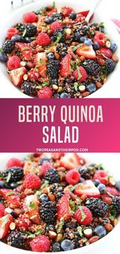 This healthy fruit salad is a summer favorite! This Quinoa fruit salad can be a . Quinoa Fruit Salad, Quinoa Salad Recipes, Fruit Recipes, Whole Food Recipes, Vegetarian Recipes, Cooking Recipes, Quinoa Recipe, Quinoa Desserts, Kitchens