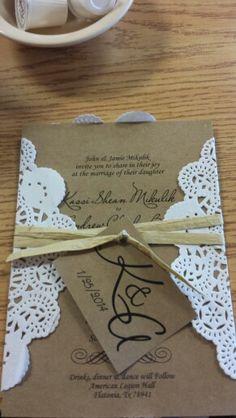 Rustic wedding invitations. Perfect for my wedding theme