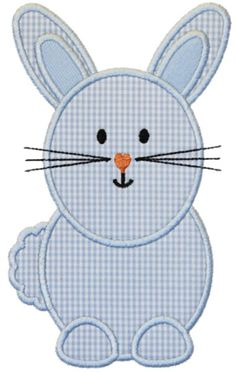 Bunny Applique Design More