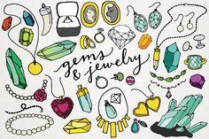 Gems & Jewelry Clipart Illustrations by Lemonade Pixel on Creative Market