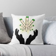 'Holy Joint / Praying For Weed' Throw Pillow by RIVEofficial Holi, Weed, Pray, Custom Design, Vibrant, Throw Pillows, Trends, Accessories, Shopping