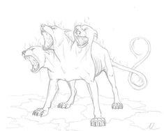 easy to draw cerberus | Cerberus by AnastasiyaChubar