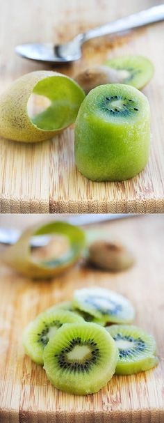 How about a little nifty kiwi peeling trick?