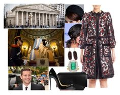 """""""Argentina Tour Day 2 (morning): Laying a wreath at the Tomb of Jose de San Martin at Metropolitan Cathedral"""" by pompcircumstance ❤ liked on Polyvore featuring Rachel, Marc Jacobs, Givenchy, Christian Louboutin, Kimberly McDonald, BERRICLE and Chaumet"""