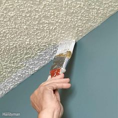 A pro home painter shares his picks for the best ceiling paint, tips for painting smooth and textured ceilings, with equipment selections. Textured Ceiling Paint, Best Ceiling Paint, Ceiling Texture, Colored Ceiling, Painting Ceilings Tips, Ceiling Painting, Painting Tips, House Painting, Home