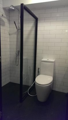 Shower Curtain Instead Of Shower Screen For Small Space