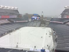 Football weather at Gillette Stadium!