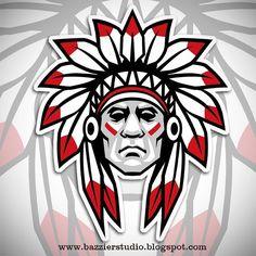 Bazzier Graphik - Instagram Photos Native Art, Native American Art, Mascot Design, Logo Design, New Mexico History, Chiefs Logo, Sports Team Logos, Cool Logo, Tatoo