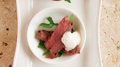 This recipe for fillet of beef with horseradish from Andrew Rudd, executive chef and owner at Medley, is perfect for entertaining. Christmas Canapes, Christmas Recipes, Wine Recipes, Beef Recipes, Mini Yorkshire Puddings, Beef Strips, Horseradish Sauce, Roasting Tins, Fresh Chives