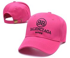30bf24e96e12f Mode Balenciaga Embroidered Cotton-twill Caps   Hats Pink