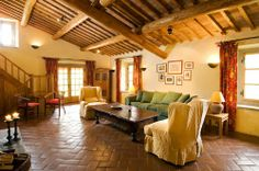 Tuscany Living Room in Brown Tuscany Living Room with Earthy Colors