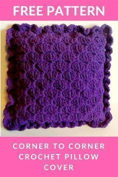 Corner to Corner Crochet Pillow Cover - FREE PATTERN