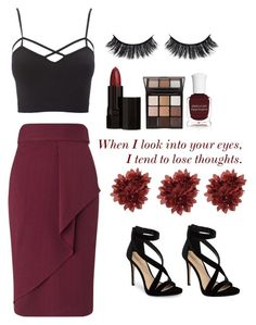 """""""Untitled #92"""" by bruhitscookie ❤ liked on Polyvore featuring Charlotte Russe, Miss Selfridge, Battington, Serge Lutens, Trish McEvoy, Deborah Lippmann, Imagine by Vince Camuto and plus size clothing"""