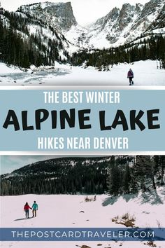 Check out this list for the best alpine lake trails near Denver that are perfect for a winter hike or snowshoe adventure. Colorado National Parks, Colorado Hiking, Winter Holiday Destinations, Travel Destinations, Travel Usa, Snow Travel, Winter Travel, Hiking Photography, Alpine Lake