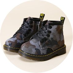 Cheap boots for boys, Buy Quality boots fashion directly from China leather boots for boy Suppliers: camouflage new children leather shoes fashion boots for boys sneakers kids ankle boots martin boots Shoe Boots, Ankle Boots, Baby Shop Online, Cheap Boots, Martin Boots, Kids Boots, Kids Sneakers, Stylish Kids, Childrens Shoes