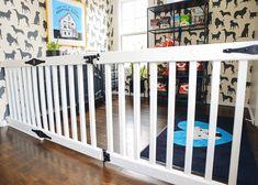 Ideas For Baby Diy Furniture Tutorials Diy Dog Fence, Diy Dog Gate, Diy Gate, Diy Baby Gate, Baby Room Diy, Baby Gates, Child Gates, Extra Wide Baby Gate, Large Baby Gate