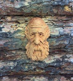 Original Carving Wizard Wood Spirit Ooak Hobbit Elf Old Man by Scott Longpre