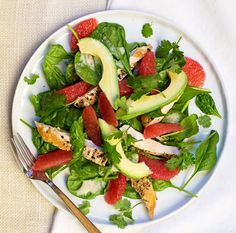 Roasted Chicken, Avocado and Grapefruit Salad