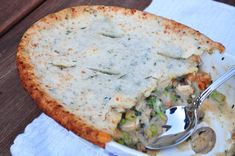 Chicken Pot Pie with Herbed Biscuit Crust   AllFreeCasseroleRecipes.com