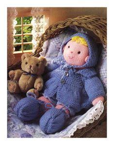 Baby Doll 12 INS (30CM) Knitting Pattern www.yarnpassion.com