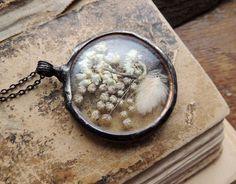 terrarium necklace, mariaela, boho, gypsy, terrarium necklaces, wedding, bridesmaids necklaces, white flower by MARIAELA on Etsy https://www.etsy.com/listing/223095934/terrarium-necklace-mariaela-boho-gypsy