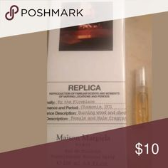 Maison Martin Margiela By The Fireplace 2ml Sample *Sample 2ml only Sprayed and decanted directly from my new perfume bottle. My bottle is 100% Authentic from Sephora Smells delicious - like caramel/vanilla/ roasted marshmallow. Try it before you invest! This is my #1 fave!!! We have a clean and smoke free home Fast shipping! Maison Martin Margiela Accessories