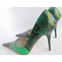 Stylish designs peacock shoes