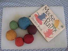 'Mouse Paint' inspired play dough mixing