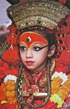 Nepal - Living Goddess. Kumari. Living Goddess, incredible, i wonder what she has to do??