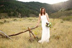 Rustic Chic Bride At Outdoor Wedding