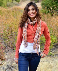 Brown Knit Scarf Fall Scarf Brown Orange Scarf Warm by SmilesbyJEM, $25.00