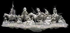 работы скульпторов Patty и Allen Eckman – о1