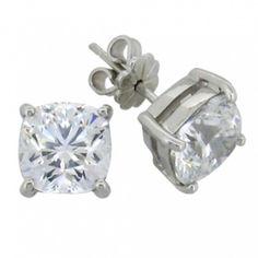 Silverörhänge - Stud 4,5ct diamantsimulant