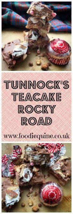 Scotland in a Traybake! No bake cake perfect for Burns Night & St Andrew's DayTunnock's Teacake Rocky Road. Scotland in a Traybake! No bake cake perfect for Burns Night & St Andrew's Day Tray Bake Recipes, Baking Recipes, Snack Recipes, Dessert Recipes, Baking Ideas, Bar Recipes, Recipies, Easy Chocolate Desserts, Easy Desserts