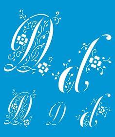 Stencil Letra D 17 x 21cm - STM 070 - Stencil 17 x 21cm - Stencil ou molde vazado - Empório Janial