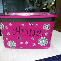 Dance recital box. Decorated mostly with duct tape.