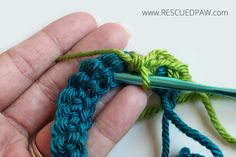 How to Make a Spike Stitch in Crochet From Rescued Paw
