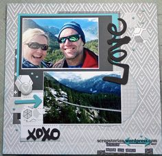Love on the Sea to Sky Gondola, British Columbia sketch using the Paper Issues Feb 2017 Sketch Challenge and some Amy Tangerine product of American Crafts Little Sis, Travel Scrapbook, American Crafts, Scrapbooking Layouts, British Columbia, Polaroid Film, Feb 2017, Sky, Memories