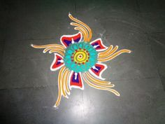 Easy and simple rangoli design around the plate | Rangoli by Poonam Borkar - YouTube