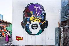 @powwowdc New #mural by Sandra Chevrier (@sandrachevrier) in Kaka'ako, Hawai'i for #powwowhawaii2018. •  by @mrjasperwong • #sandrachevrier #hawaii #streetart #streetarthawaii #internationalwomensday #xmen #marvelcomics