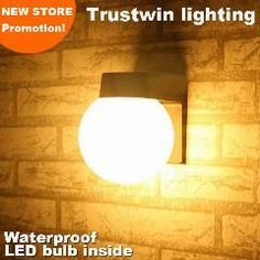[ $21 OFF ] 2 Pieces Waterproof Bathroom Indoor Outdoor Wall Lamp Round Ball Shape Sphere White Black Modern Outdoor Wall Lamp