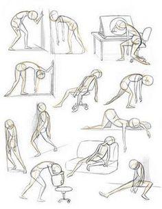Bildresultat för girl reading pose draw