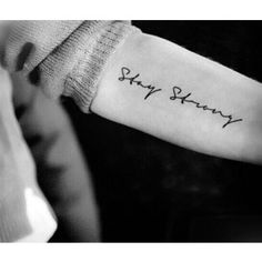 2pcs Stay Strong script quote temporary tattoo InknArt Temporary Tattoo wrist neck ankle small tattoo tiny tattoo