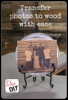 Photo Ideas: How To Create a Wood Transfer With Ease Transferring photos to wood is one of my favorite DIY photo ideas! These are perfect for wedding gifts, Christmas gifts or any occasion for Handmade gifts! Photo On Wood, Picture On Wood, Tranfer Picture To Wood, Picture Frames, Handmade Home Decor, Diy Home Decor, Handmade Gifts, Wood Projects, Woodworking Projects