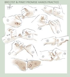 +DRAWING PRACTICE - BRO FIST 'n PINKY PROMISE+ by *goku-no-baka on deviantART