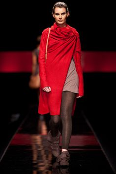 Mode coat in Red. Also available in Burnt orange or Black.